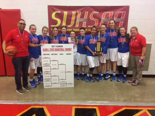 2017 Girls Class L Basketball Champions Massac County