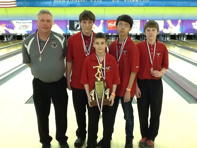 4th Place Boys Bowling -Alton-