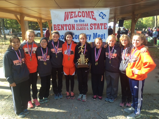 2015 Class L Cross Country Girls 4th Place - Waterloo