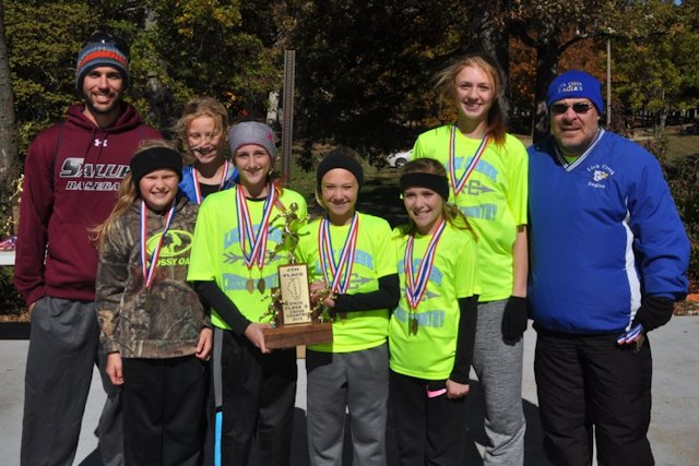2015 Class S Cross Country Girls 4th Place - Lick Creek