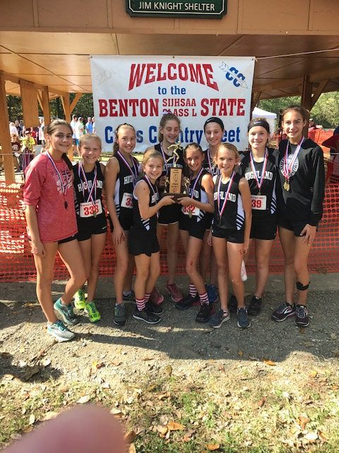 2017 Class L Girls Cross Country State 4th Place - Highland