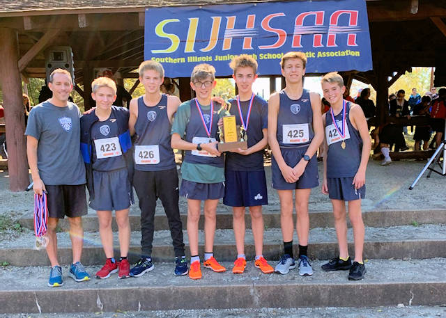 2019 SIJHSAA Boys Cross Country Class S 3rd Place St Clare-OFallon