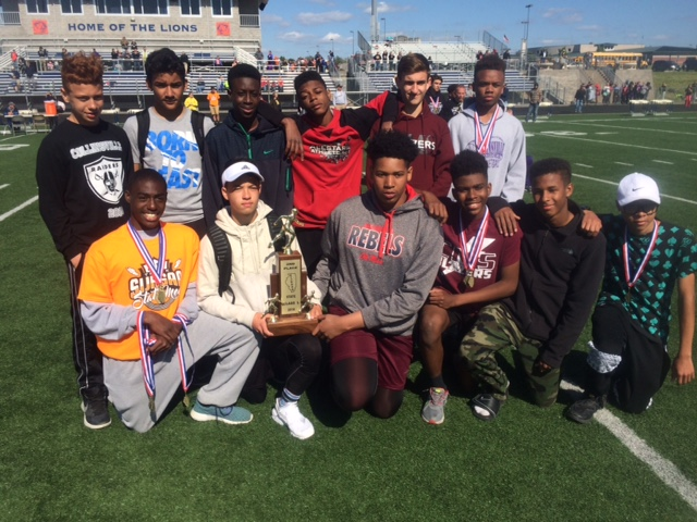 L boys track Collinsville 2nd