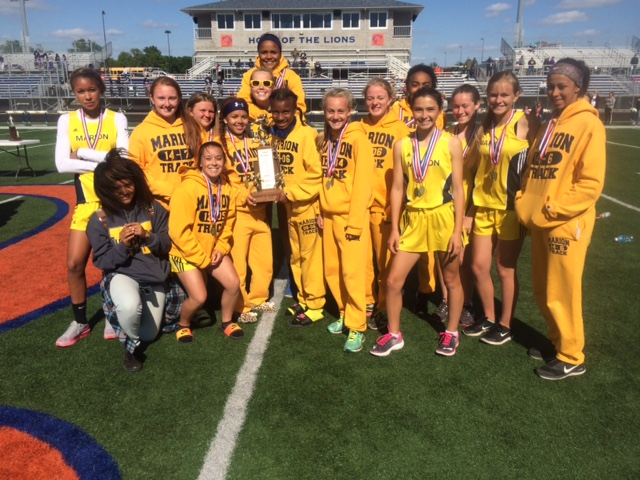 L girls track Marion 2nd