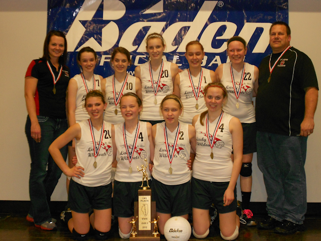 2012 - Class S Volleyball State Champions - St. Rose