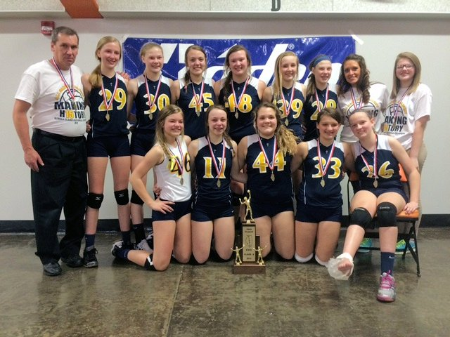 2015 Volleyball Class S 2nd Breese All Saints Academy